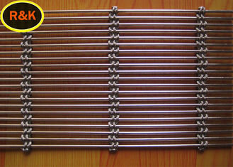 Flexible Architectural Wire Mesh Safety Stainless Steel Plain Weave